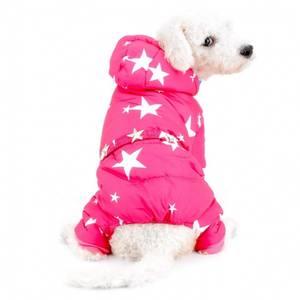 Bilde av Rosa vinterdress med stjerner til hund