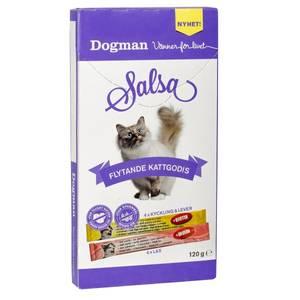 Bilde av 8pk Salsa - flytende kattesnacks laks/kylling/lever