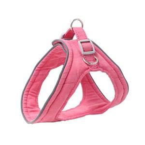 Bilde av Lys rosa semsket hundesele