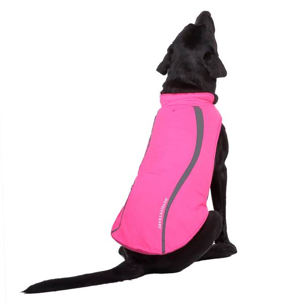 Rosa hundedekken med refleks