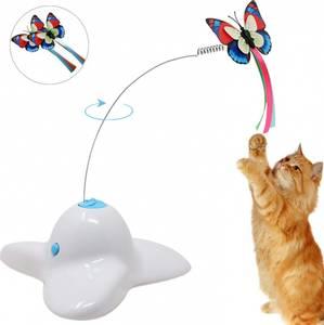 Bilde av Bevegelig elektrisk katteleke med sommerfugl