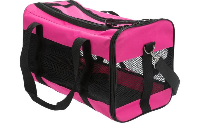 Rosa reisebag til katt og liten hund