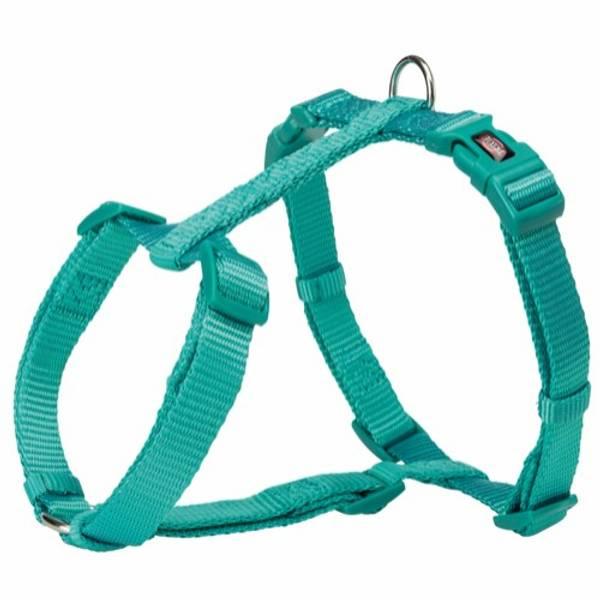 Turkis fleksibel H-sele til hund