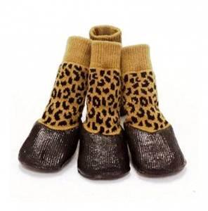 Bilde av 4 stk. gummierte potesokker leopard