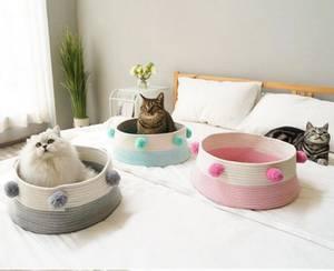 Bilde av Rosa flettet kurv til hund og katt