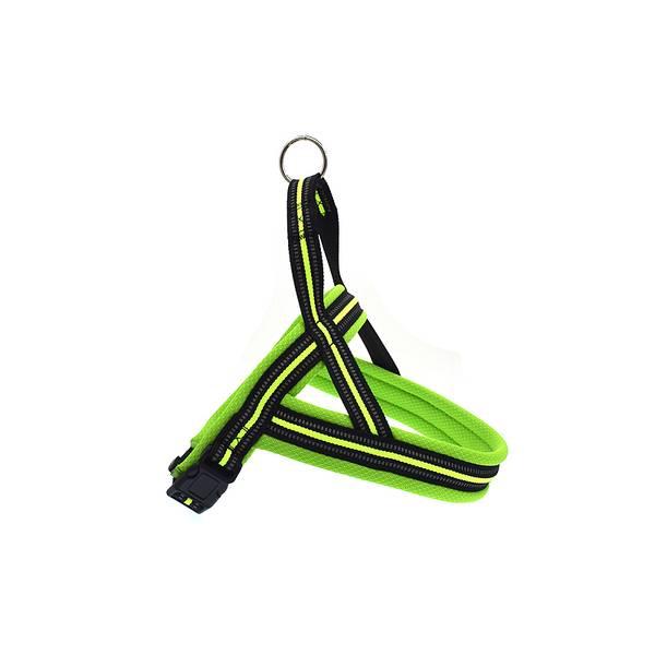 Neon hundesele med refleks og padding