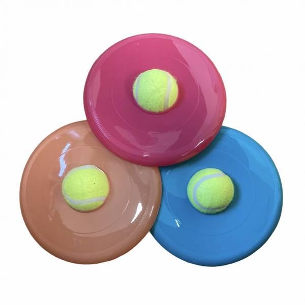 Frisbee med tennisball til  hund