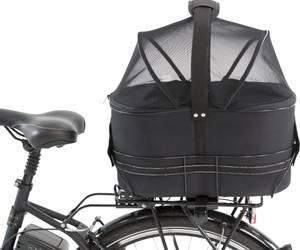 Bilde av Sort sykkelbag for hund - Bagasjebrett Smalt