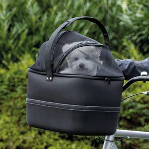 Bilde av Sort sykkelbag for hund - Styret