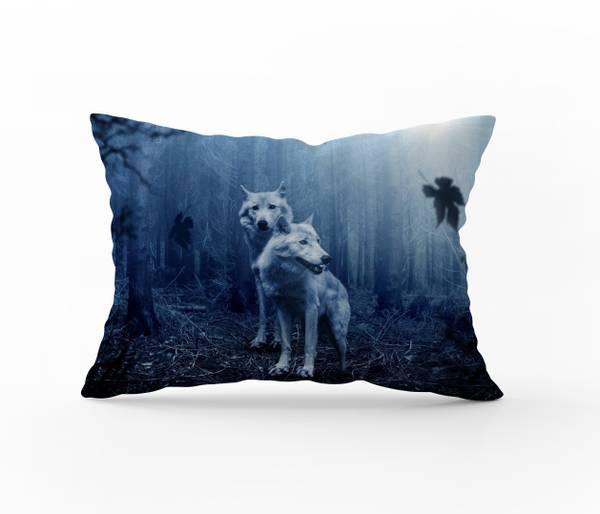 Bilde av Örngott Misty Wolves 50x70
