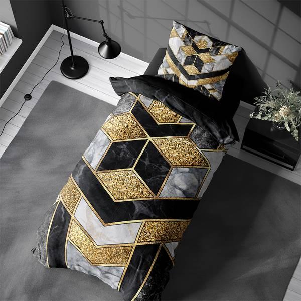 Bilde av Påslakanset Marble Art Black