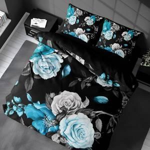 Bilde av Sengesett Roses Turquoise