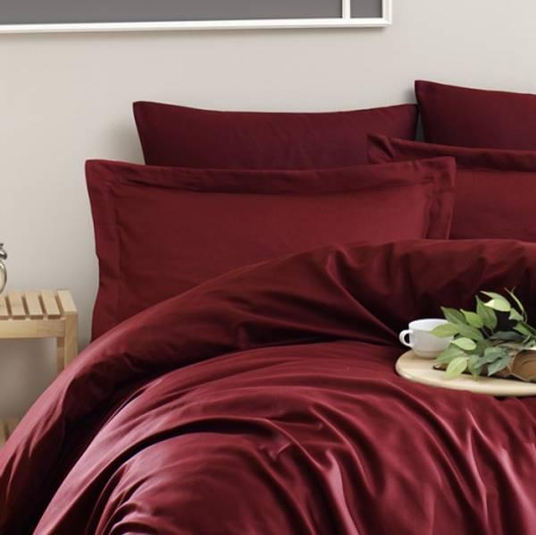 Bilde av Putetrekk Solid Color Bordeaux 50x60