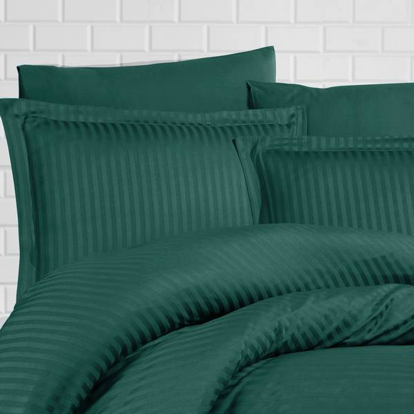 Bilde av Putetrekk Stripe Dark Green 50x60