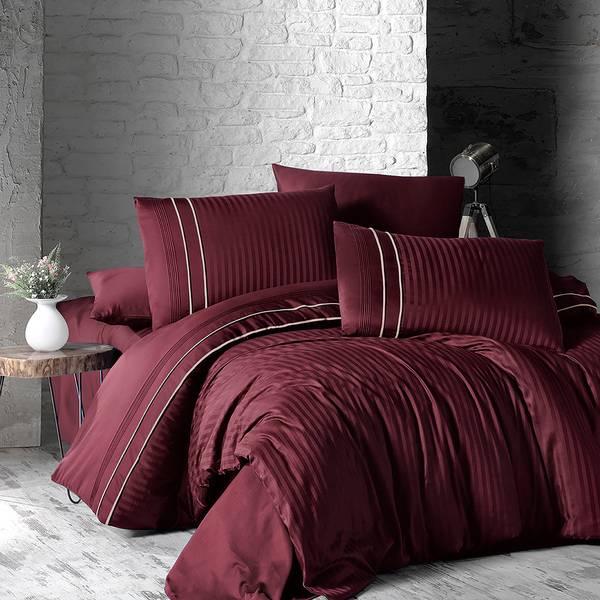 Bilde av Sengesett Deluxe Stripe Style Dark Red