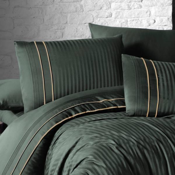Bilde av Putetrekk Deluxe Stripe Style Dark Green 50x60