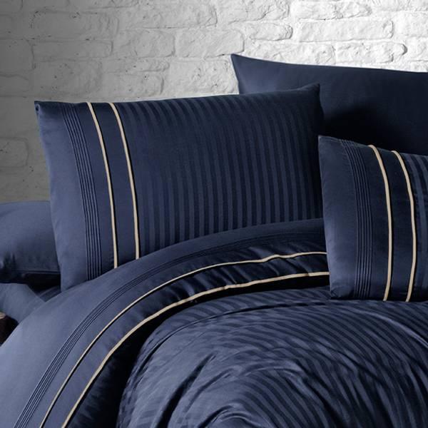Bilde av Putetrekk Deluxe Stripe Style Navy Blue 50x70