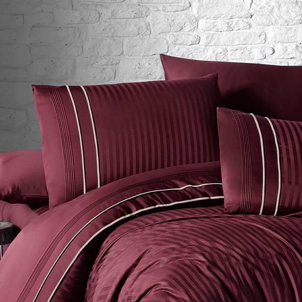Bilde av Putetrekk Deluxe Stripe Style Dark Red 50x70