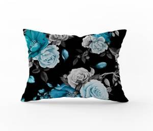 Bilde av Putetrekk Roses Turquoise 70x100