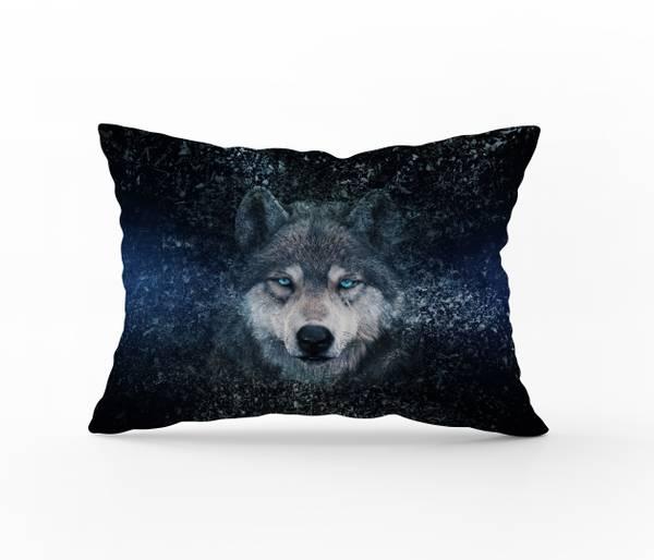 Bilde av Putetrekk Wolf Blue 50x60