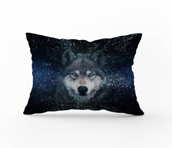 Bilde av Putetrekk Wolf Blue 50x70