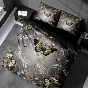 Bilde av Sengesett Butterfly Gold