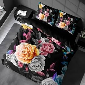 Bilde av Sengesett Roses Black