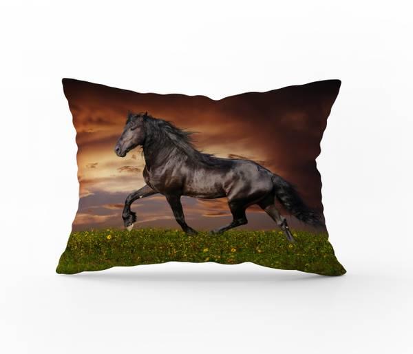 Bilde av Putetrekk Horse Brown 50x60
