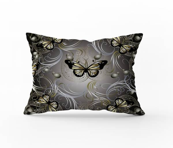 Bilde av Putetrekk Butterfly Gold 50x60
