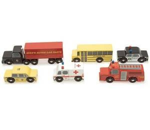 Bilde av Le Toy Van New York Sett med 6 Trebiler
