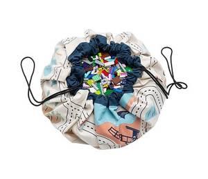 Bilde av Play & Go Oppbevaringspose og Leketeppe med Bil og Veikart