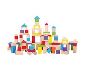 Bilde av New Classic Toys Fargerike Byggeklosser i Tre, 100 stk.