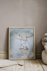 Bilde av Mrs, Mighetto Flying Whale | 40x50 cm.