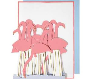 Bilde av Meri Meri Flamingo Papirrad Kort