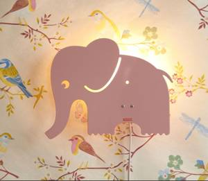 Bilde av Roommate Elefant Lampe | Pastell Rosa