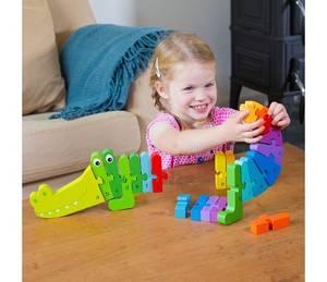 Bilde av New Classic Toys Bokstavpuslespill med Krokodille