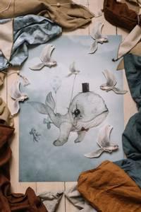 Bilde av Mrs. Mighetto  Dear Whalie | 50x70 cm.
