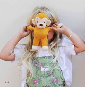 Bilde av WWF Mago the Monkey med Lyd   Gul 22 cm.