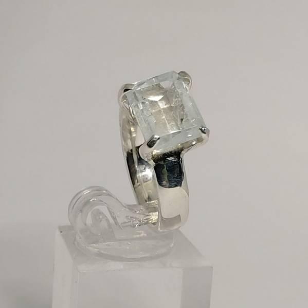 Sølvring Aquamarine