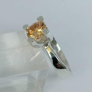 Bilde av Sølvring champagne cubic Zirkonia