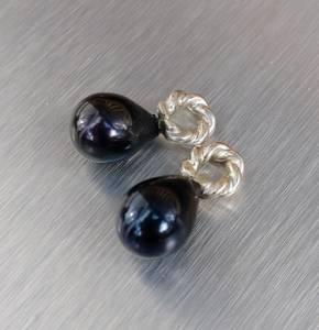 Bilde av Anheng av sorte natur perler