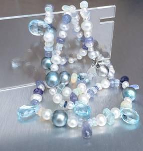 Bilde av Perle og edelstenkjede, Sea