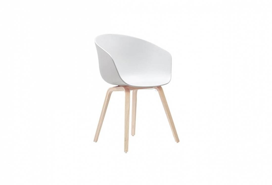HAY White AAC22, About a Chair 22 Soap Oak Stol