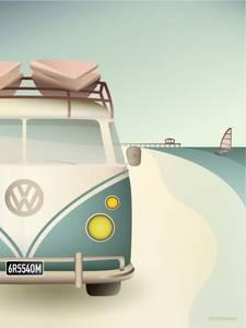 Bilde av Vissevasse VW Camper 50x70