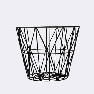 Bilde av Wire Basket M Black, Ferm