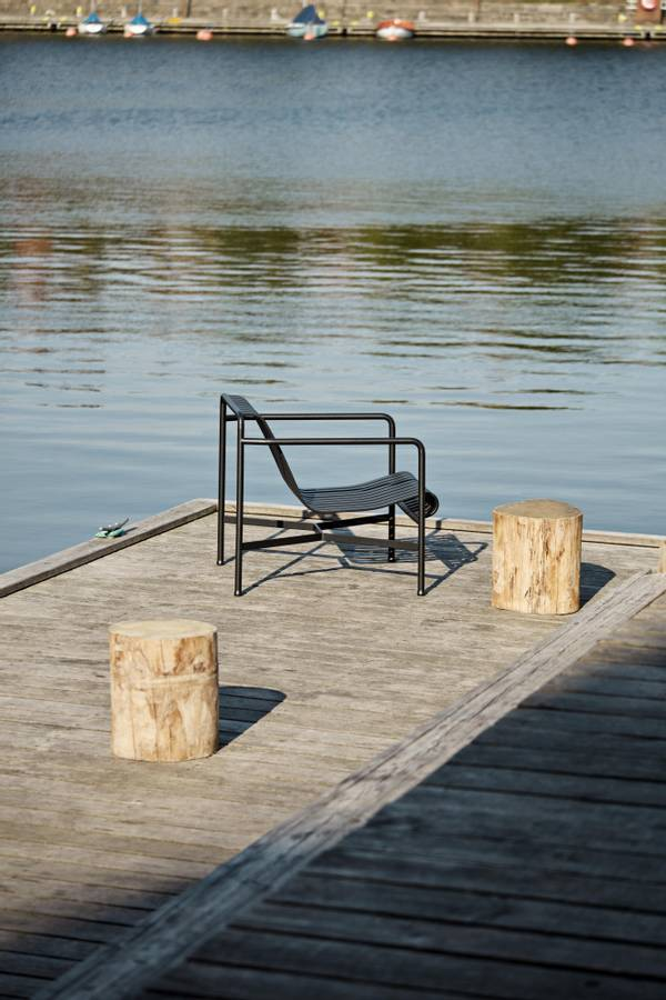 HAY Palissade Loungestol Low, Anthracite