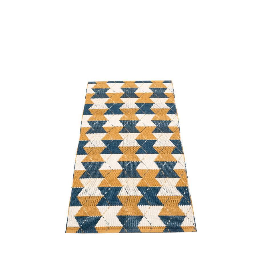Pappelina Trip Gulvløper 70x150 Ocean Blue Ochre/Vanilla