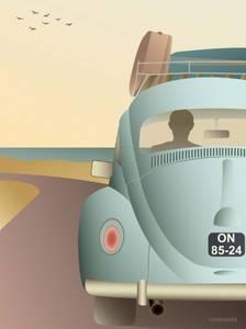 Bilde av VisseVasse VW Beetle kort