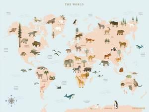 Bilde av VisseVasse World Map Animal
