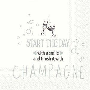 Bilde av Servietter kaffe champagne